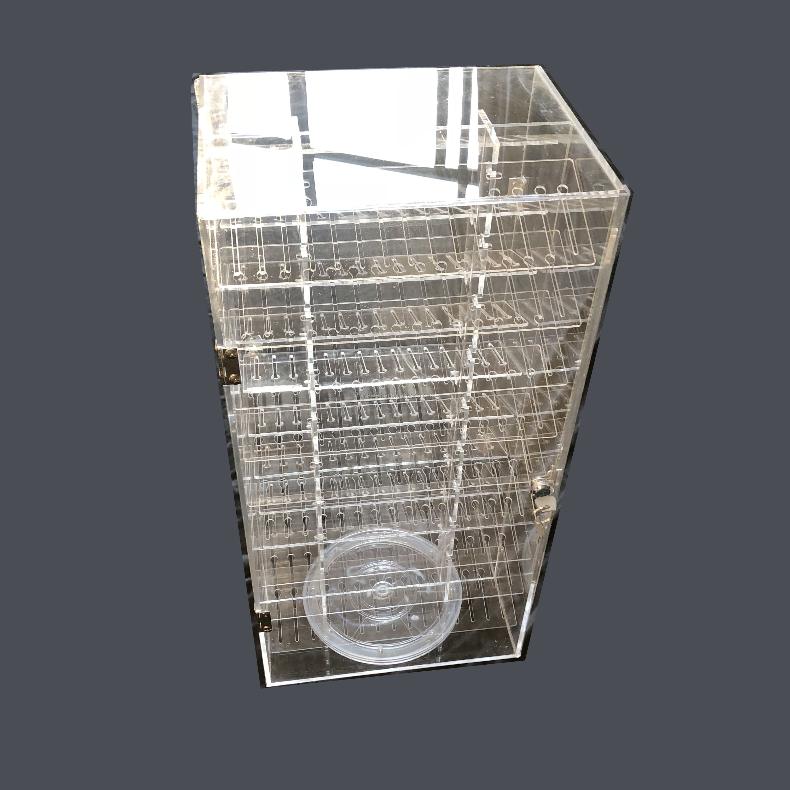 270 slots double sided  rotating acrylic body piercing display stand
