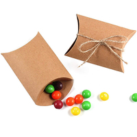 5'' X 3.5'' Cute Pillow Kraft Paper Gift Box Wedding Party Favor Favour Gift Candy Paper Box 13cm x 9cm
