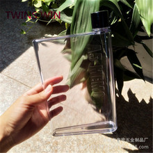 Promotion Custom Logo Plastic Square A5 Notebook Memo <strong>Flat</strong> Water Bottle 990