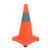Orange led flashing collapsible traffic cone for outdoor warning