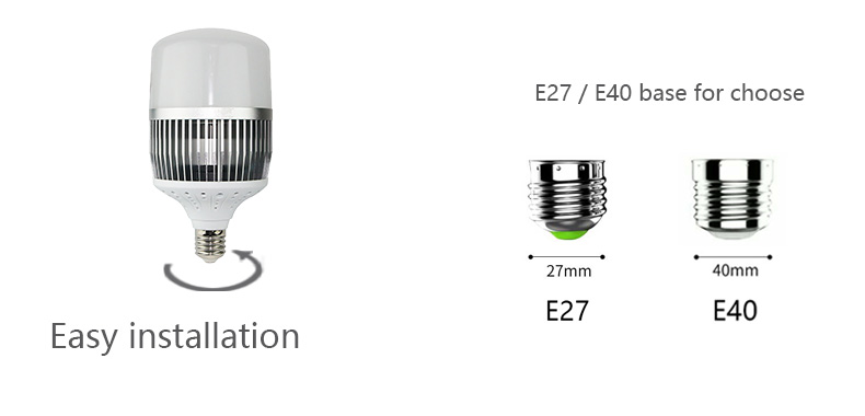 GNL high brightness led E40 energy saving lamp led bulb 100w e27