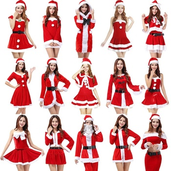 Wholesale Christmas Dress Santa Claus Girl Sexy Costume For Women