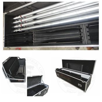 Flight case for pipe and drape
