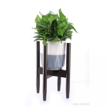Modern Adjustable Bamboo Elegant Plant Stand Flower pot <strong>shelf</strong>