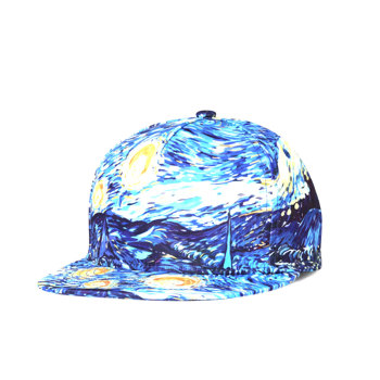 Van gogh's starry sky baseball cap men and women european and american tidal hat