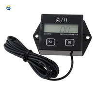 DOTO LCD Digital speedometer Engine Tachometer universal Tach Hour Meter Gauge Motorcycle Racing ATV hour meter