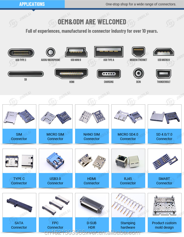 Widely used cheap factory price H2.8mm qualified sim holder card socker sim connectors