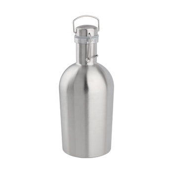 Stainless Steel  304  Beer Keg Growler 32oz & 64oz Vacuum Insulated  Beer Growler with Swing Top Cap Custom logo