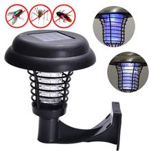 Household Products <strong>LED</strong> practical Solar Powered <strong>LED</strong> Light Pest Bug Zapper <strong>Insect</strong> Mosquito Killer Lamp Garden Lawn accessor