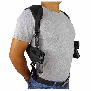 Tactical Double Draw Shoulder Gun Holster Concealed Dual Pistol Holster Adjustable Vest Under Arm Handgun Carrier