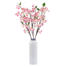 Home Decorative Table Flower Potted Artificial <strong>Sakura</strong> Cherry Flowers Tree Branch Centerpiece Wedding Cherry Blossom For Sale
