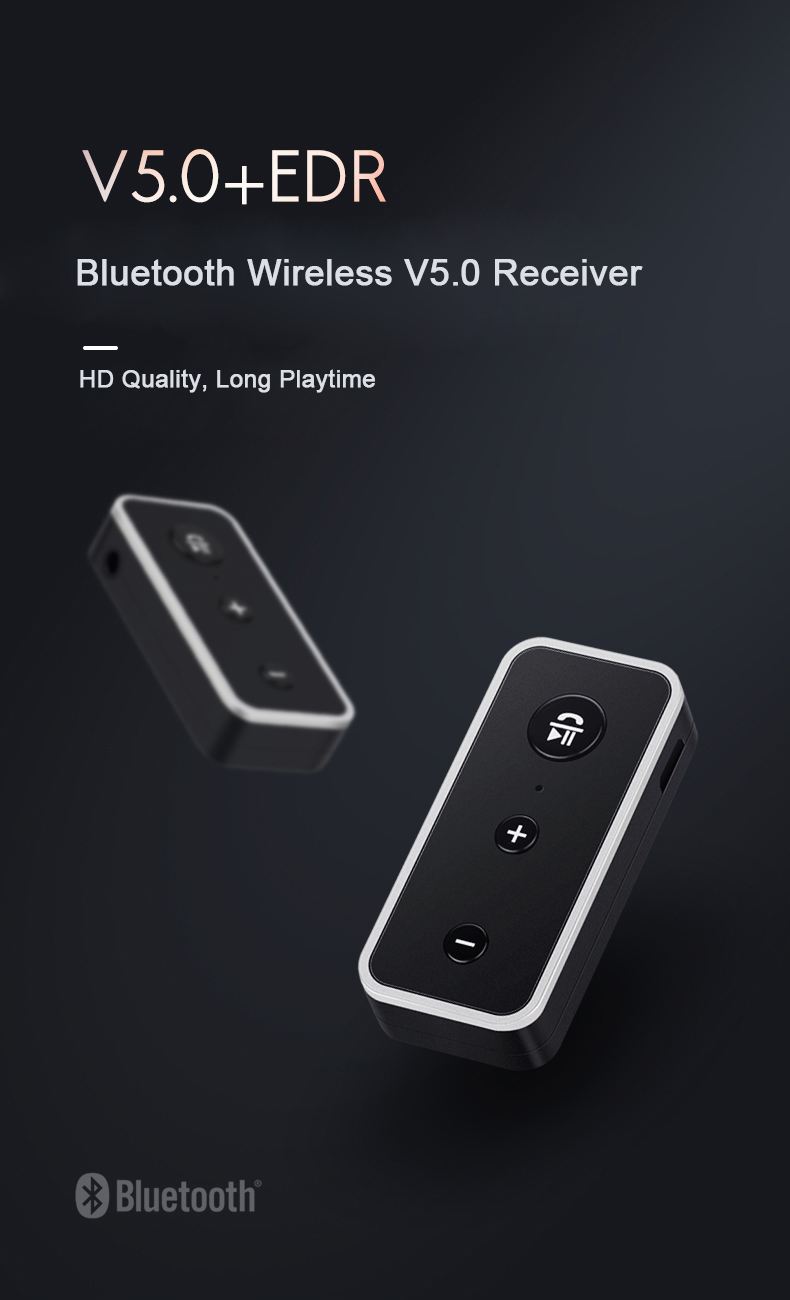 Wireless Bluetooth AUX Audio Receiver Adapter 3.5mm Jack Bluetooth HandsFree Car Kit Stereo MP3 Music Receiver