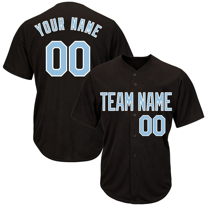 Fast delivery Polyester Custom Printing Baseball Plain Shirts BaseballJersey Outfit Mens Sublimation Cheap Price Baseball jersey