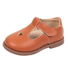 Wholesale Cheap Bright Pure Color Girls Heart Shoes T-Strap Casual Walking School Uniform Dress Princess Mary Jane Flats