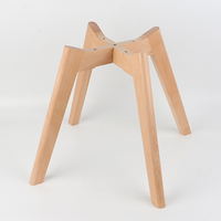 Chair Legs Wholesale New Design 4 Heavy Duty Hot Sale Round Cross X Stool Dining Wooden Furniture Base Chair Legs