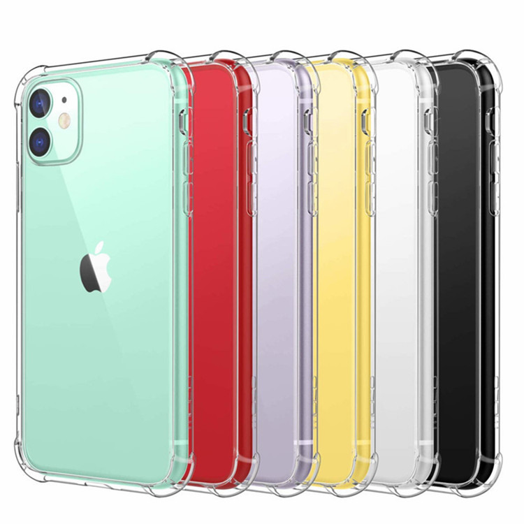 Stock Amazon 1MM Shockproof Air Cushion Soft TPU Back Cover For Iphone 11 Pro Case,For Iphone 11 Pro Max Case