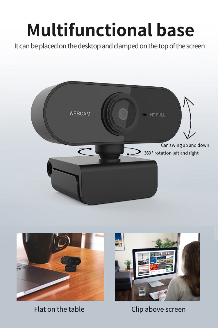 2020 Amazon Hot Goedkope 1080 P Hd Pro Streaming Ladtop 4 K Camara Webcam Voor Pc Smart Tv Desktop