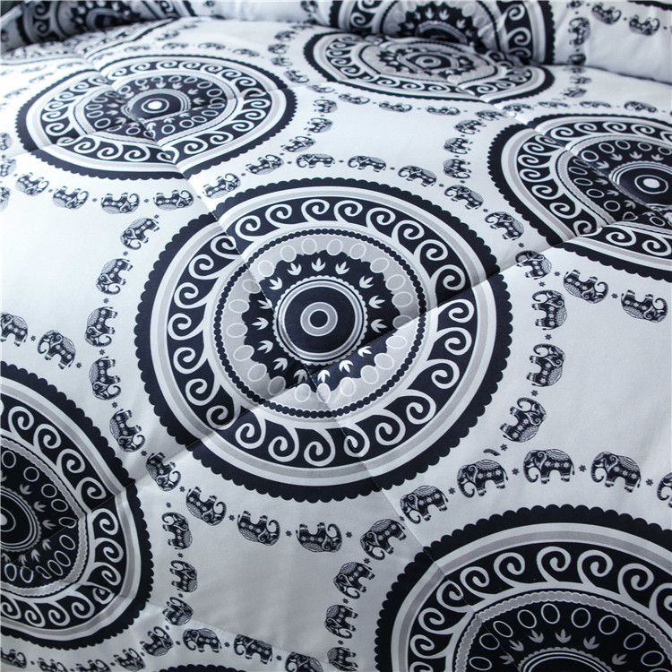 Luxury quilting machine queen size sets comforter set custom design