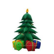 Outdoor Large 5mH Christmas Decoration Inflatable Christmas Tree With Gift