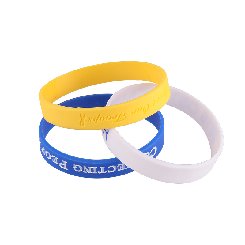Factory Crafts Bracelet Wholesale Custom Color Printing Wristband Silicone Charm Bracelet