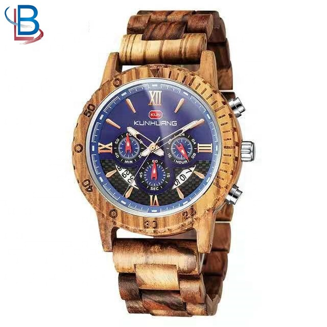 Hot Selling luxury quartz wood wristwatches men manufacturer