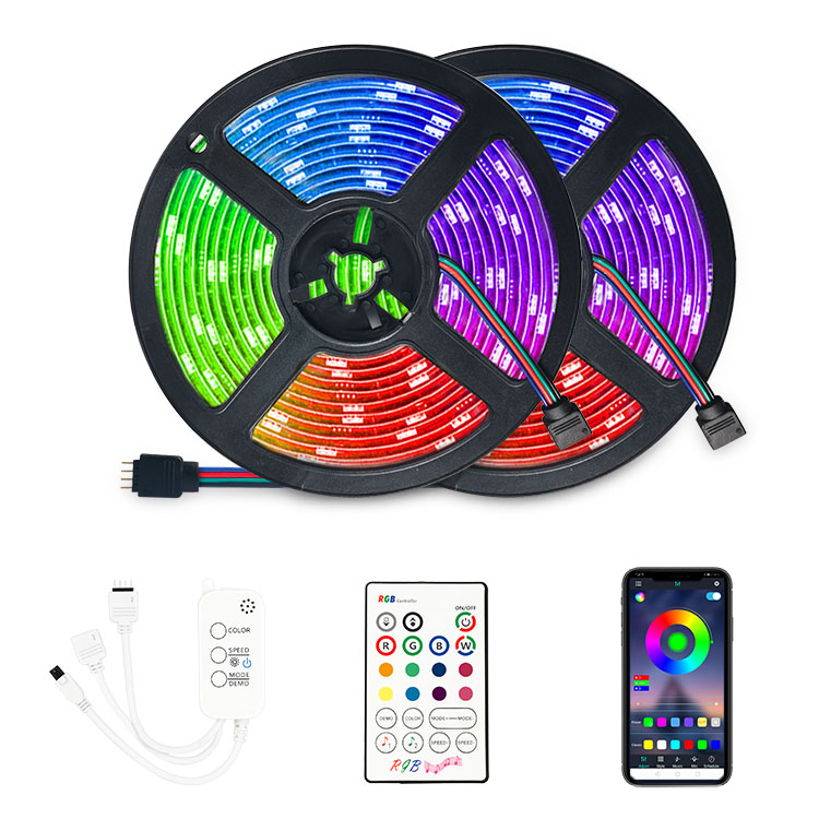 Bluetooth 5050 5M 300LEDs IP20 Flexible Colour <strong>RGB</strong> LED Strip Light With Remote Control