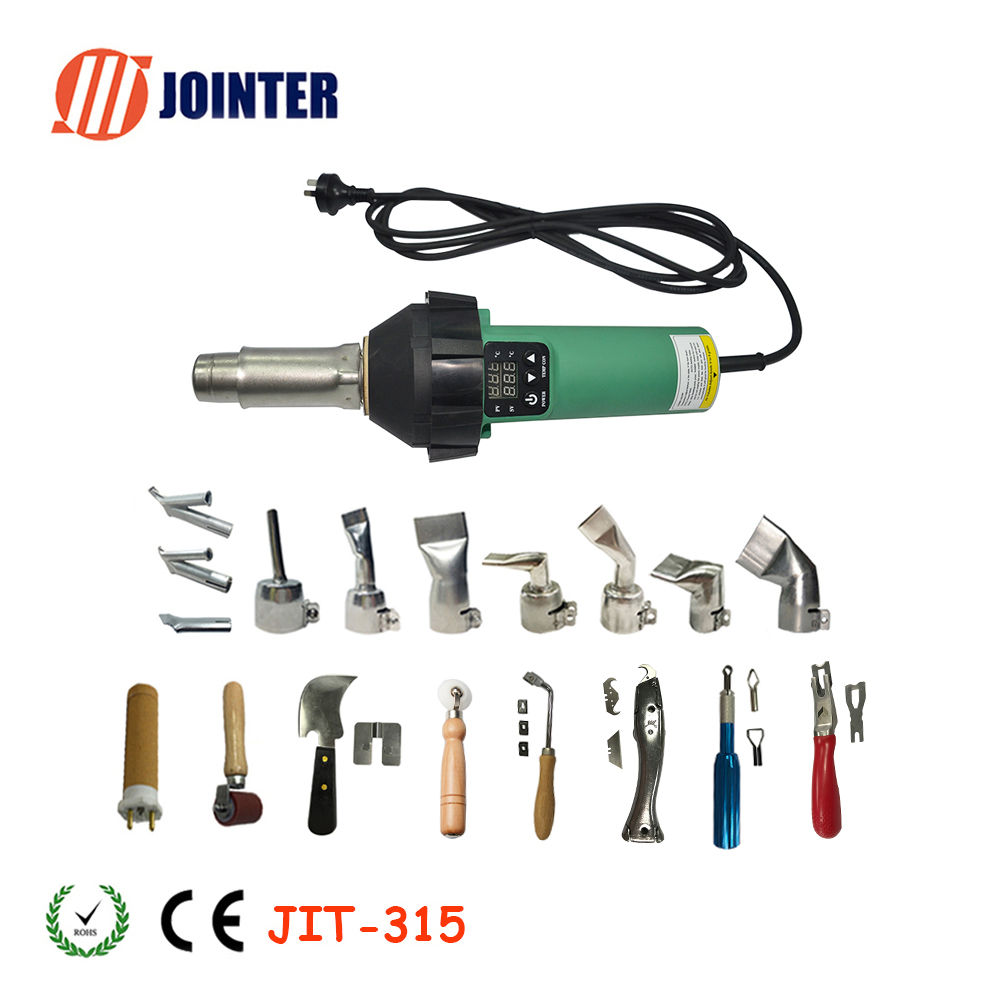 PVC HDPE TPO PP USA STOCK 1600W Digital Display Hot Air Gun for PE EVA