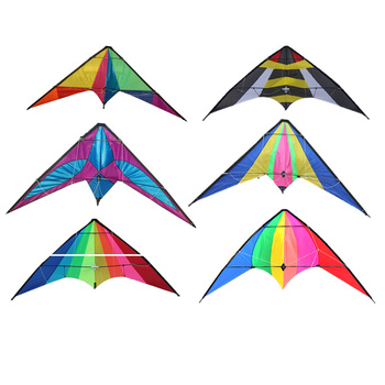 custom promotional playing ozone mono parafoil training stunt kite with flying thread