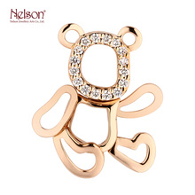 Factory Elegant Gold 18K Rose Gold Bear Animal Diamond <strong>Pendant</strong>
