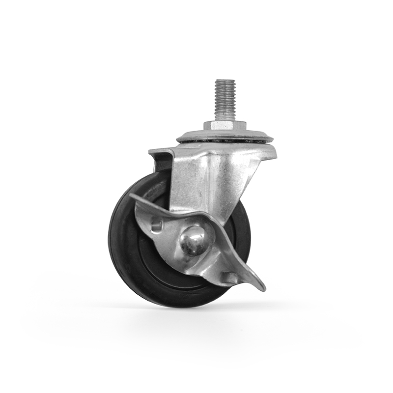 Good price flange mount casters M8-50 caster <strong>wheels</strong> with brake for t slot aluminium profile