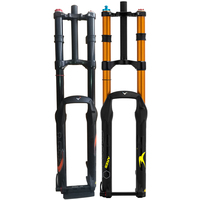 Double shoulder fat bike fork with 150mm/160mm Travel Aluminum and Magnisum alloy Bicycle air forks for sale