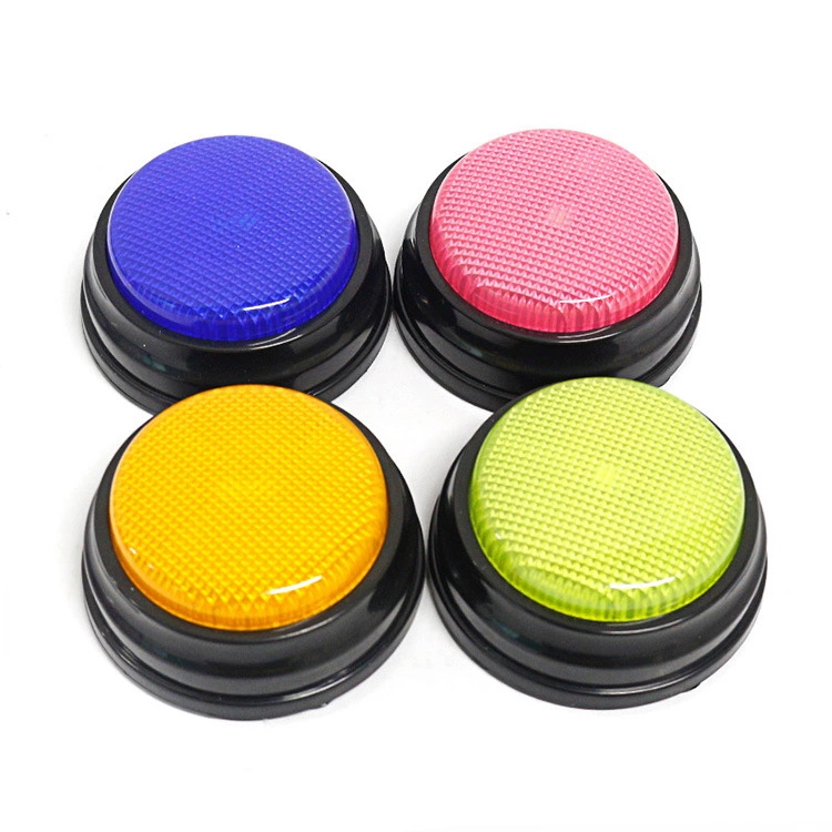Funny voice recorder button Easy push  talking buzzers sound toys for kids