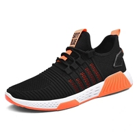 Factory low price hard-wearing injection breathable sport running shoes for men