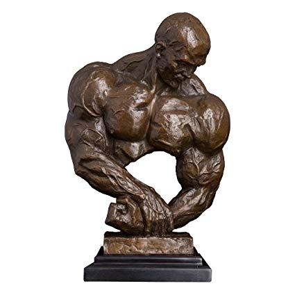 China factory made high quality bronze brass life size famous muscle men bust sculpture