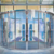 Automatic Entry Lobby Frameless Track Curve Sliding Door