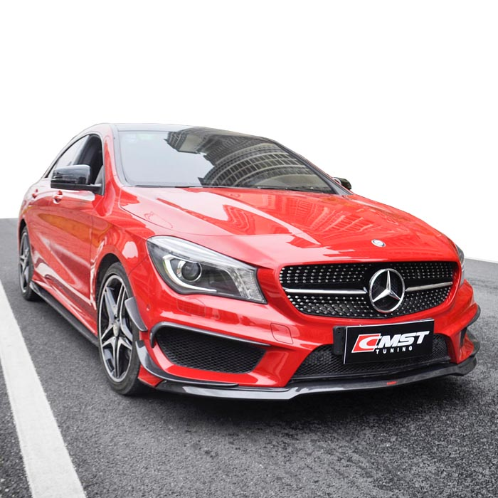 Beautiful carbon fiber body kit for Mercedes Benz cla class CLA260 <strong>W117</strong> in CMST style front lip rear diffuser and side skirts