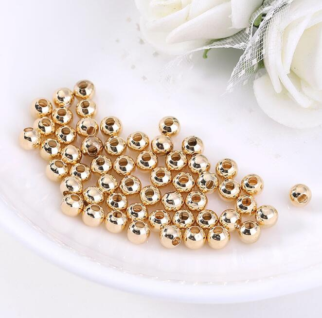 High Quality Gold Plated Handmade Pure Copper Bead Accessories Solid Six-character Mantra Beads for jewelry making loose