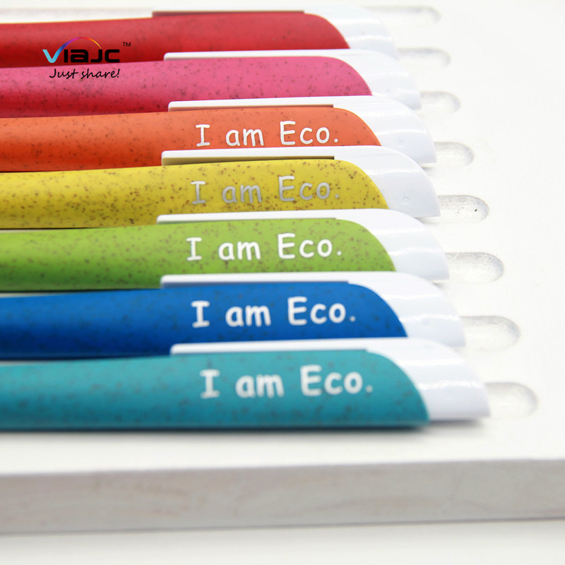 New design eco Wheat Straw <strong>pen</strong> with matte finish reduce plastic low carbon life