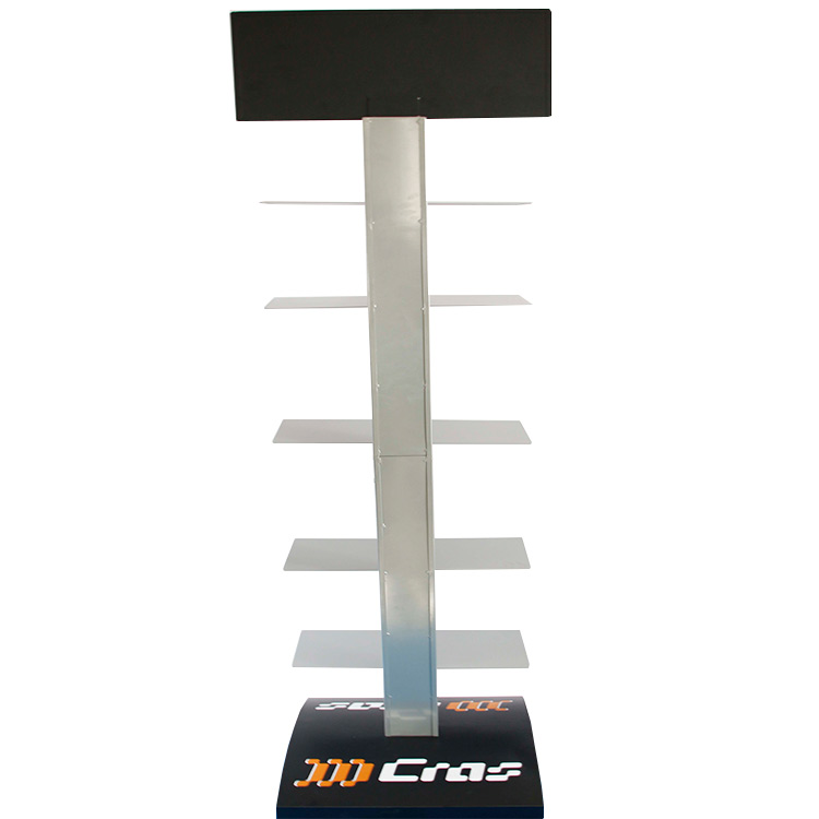 Rotating convenient metal display rack /shelf for shoe in retail store/shopping mall