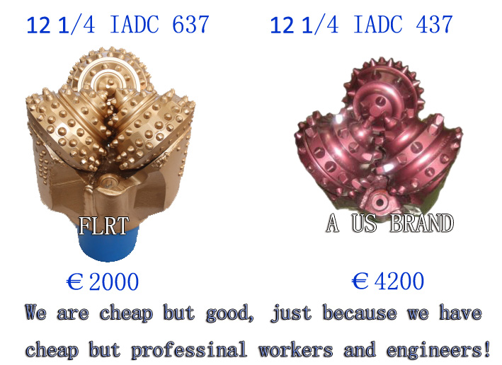 """13 5/8"""" T.C.I. Tricone bit IADC 537 for medium hard formation with metal-sealed journal bearing"""