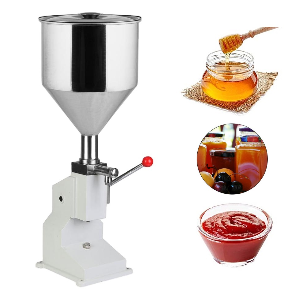 <strong>A03</strong> Small 5-50ml Manual Liquid Filling Machine, Stainless Steel Material,for lip gloss honey oil sausage