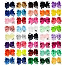 New 6&quot; Large <strong>Hair</strong> Bows With Clips For Children Handmade Grosgrain Ribbon Hairbow Baby <strong>Hair</strong> Bow <strong>Accessories</strong> 40Colors