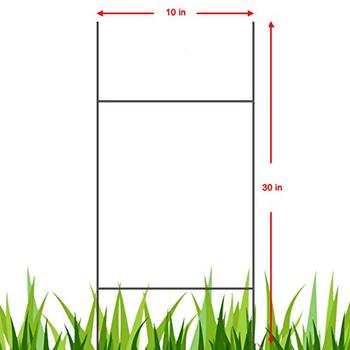 "50 H 10"" x 30"" Wire Step Stakes Holder Yard Sign Wire Stands"