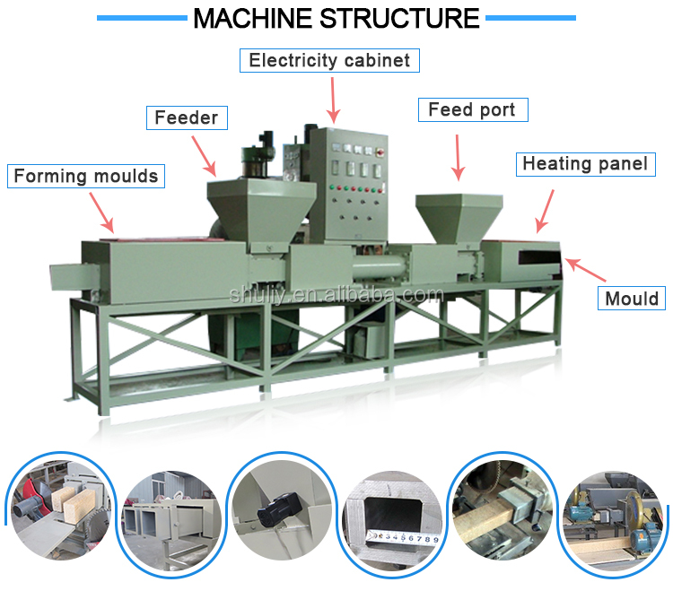 wood sawdust block compressing machine wooden block making machine