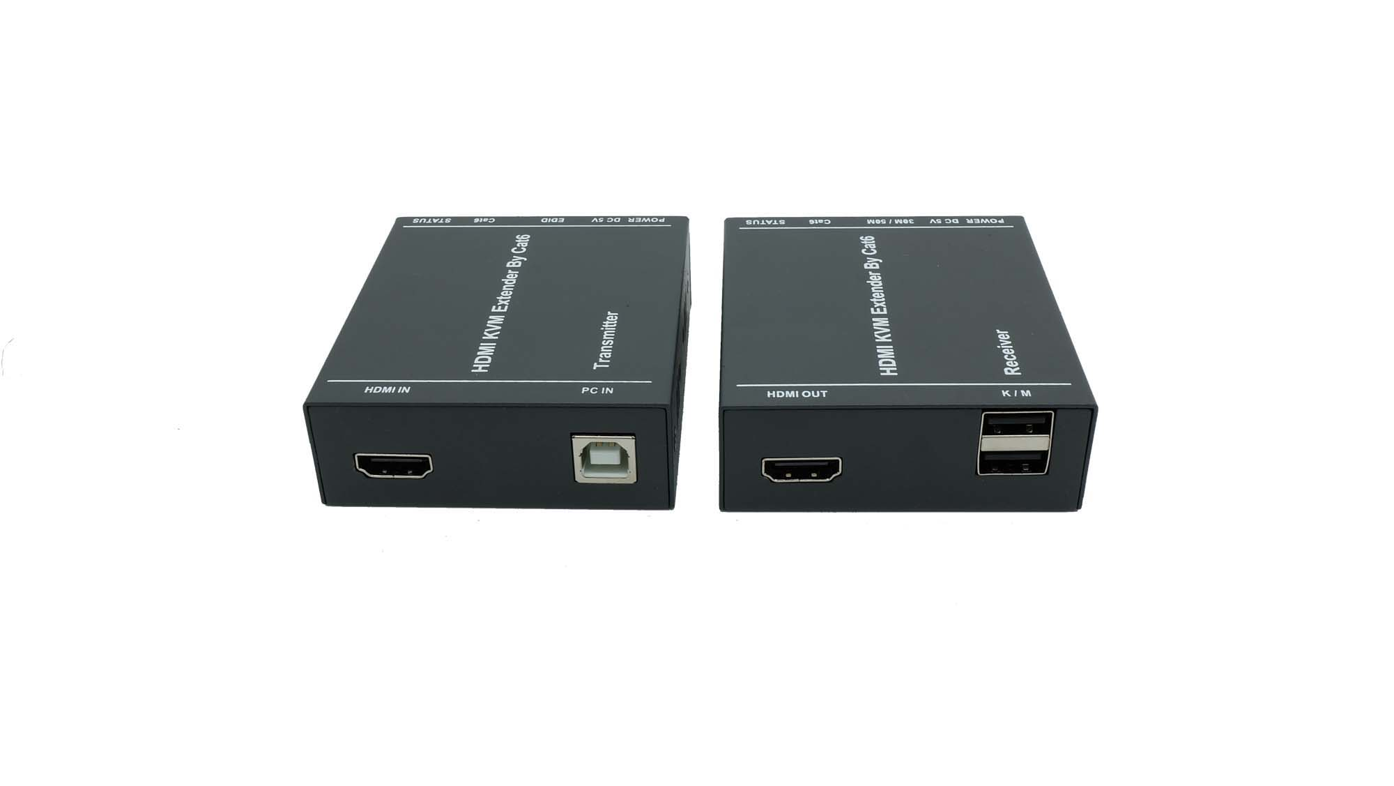 HT208HK HDMI usb extender 60m  over cat6