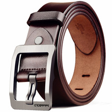 New style carbon fiber buckle soft genuine leather <strong>belts</strong> for men