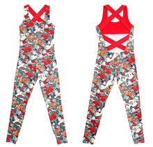 Europe and the United States new 2019 hot sale casual autumn <strong>sports</strong> women's print piece trousers yoga set