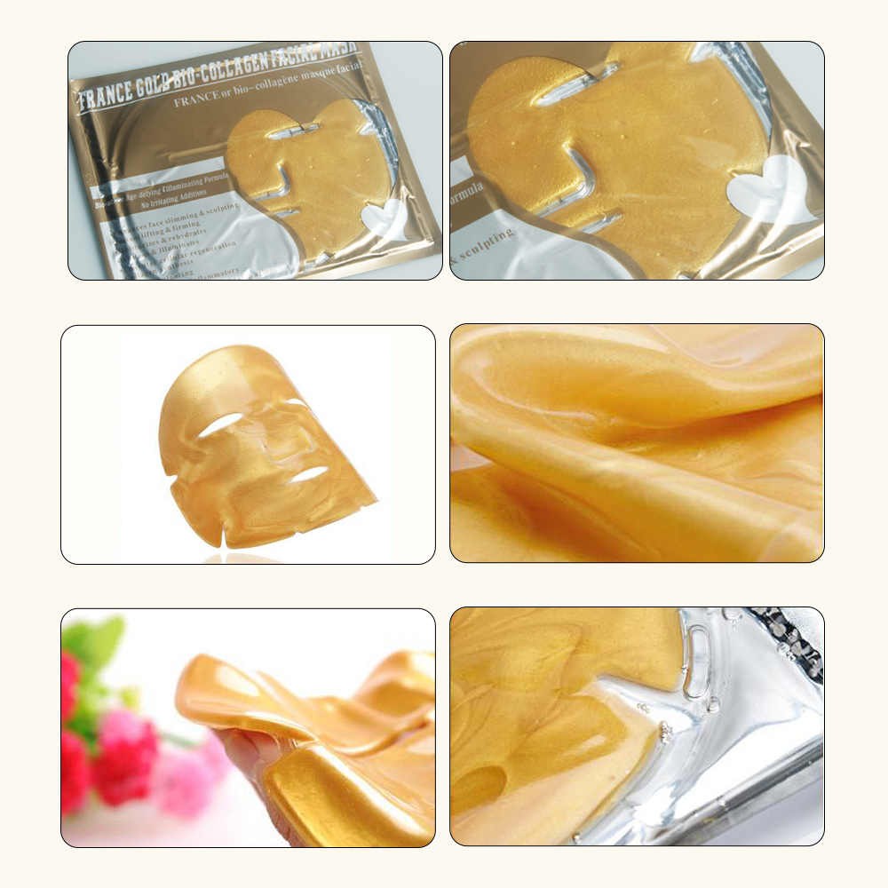 Gold Collagen Face Sheets,Hydrating Moisturizing,Anti-aging Crystal Facial Sheet
