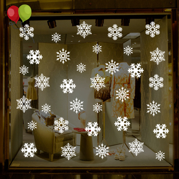 Christmas Snowflakes Window Clings Decals Winter Wonderland Decorations Ornaments Party Supplies KD337
