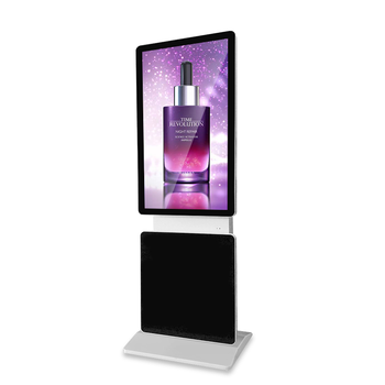 "43"" 360 degree rotate 10 points touch media player display advertise LCD wireless commercial center standing kiosk signage totem"